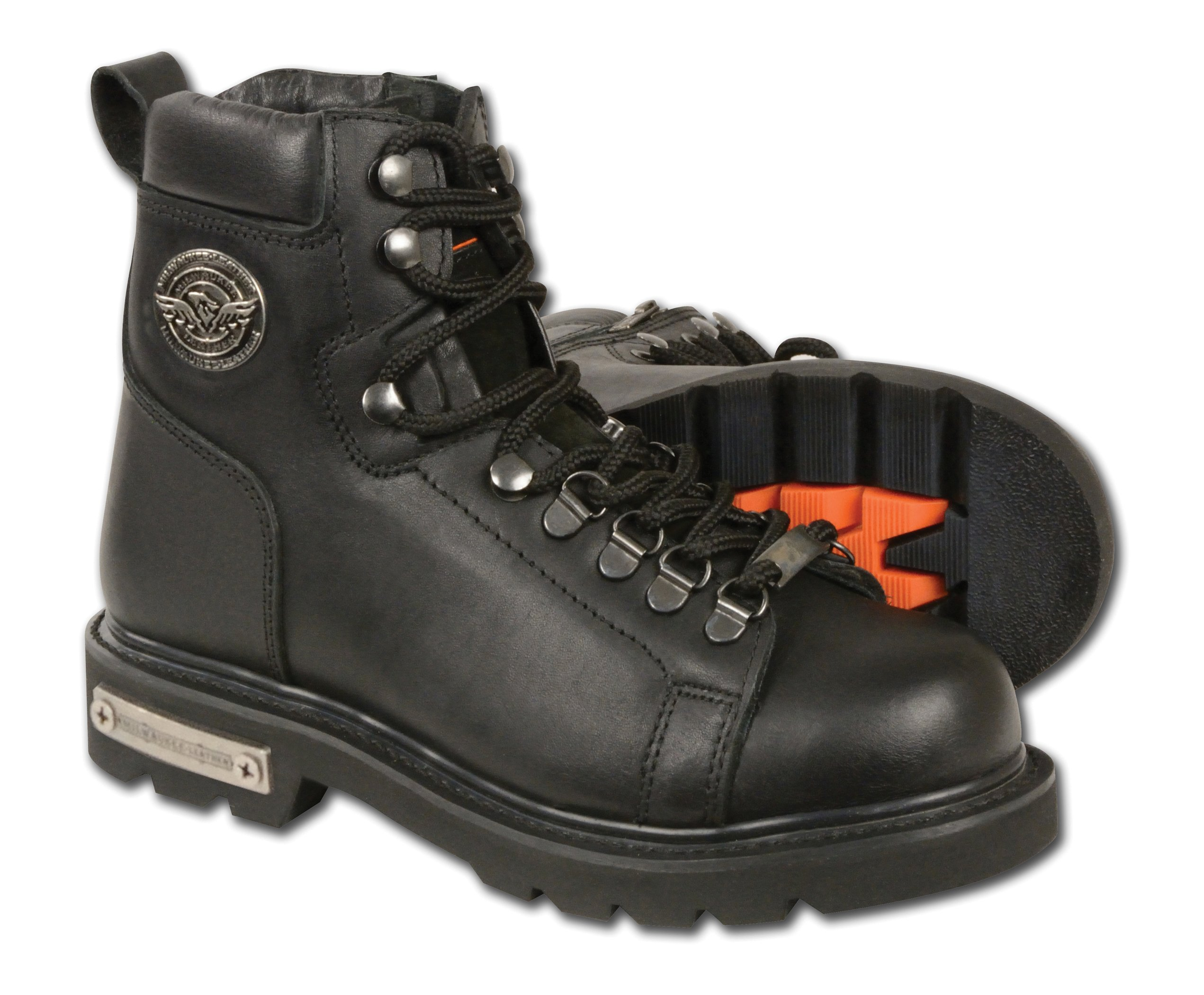 Milwaukee Leather Women's Classic Motorcycle Boots (Black, Size 6.5)