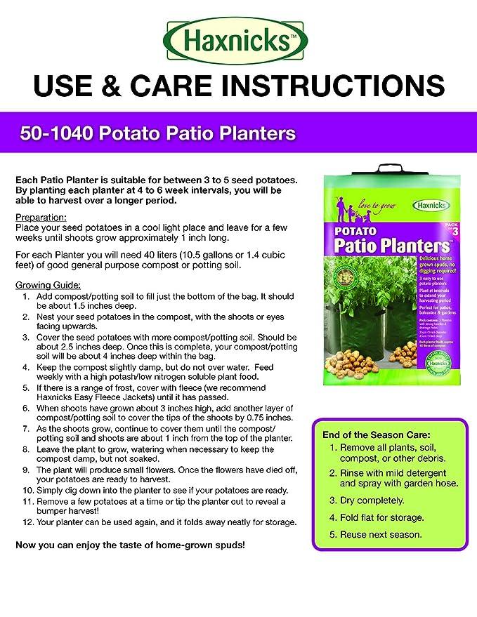 Amazon Tierra Garden 50 1040 Haxnicks Potato Patio Planter And
