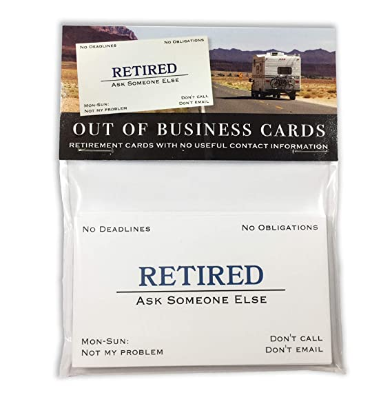 American Art Classics Funny Retirement Business Cards 25 Humorous