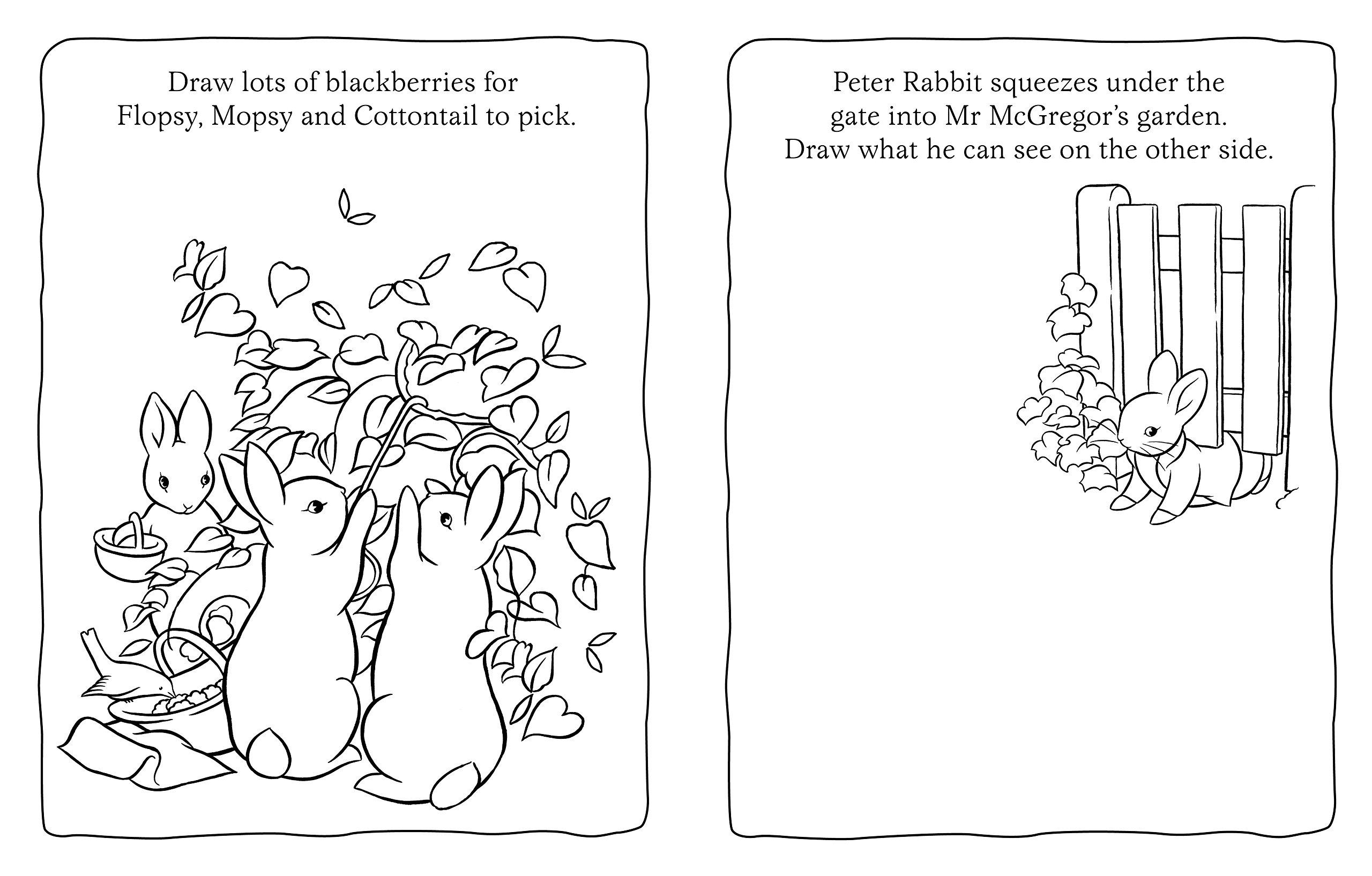peter rabbit doodle book amazon co uk beatrix potter