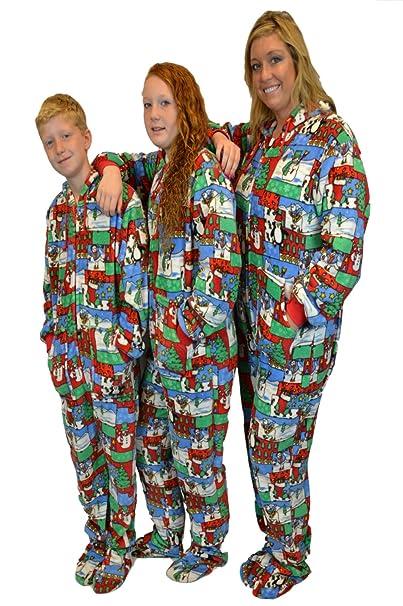 Big Feet Pajama Co. - Pijama de una pieza - para mujer multicolor Christmas Print