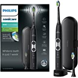 Philips Sonicare ProtectiveClean 6100 Electric Toothbrush with Travel Case, 3 x Cleaning Modes, 3 Intensities & Additional Toothbrush Head - Black (UK 2-pin Bathroom Plug) - HX6870/47
