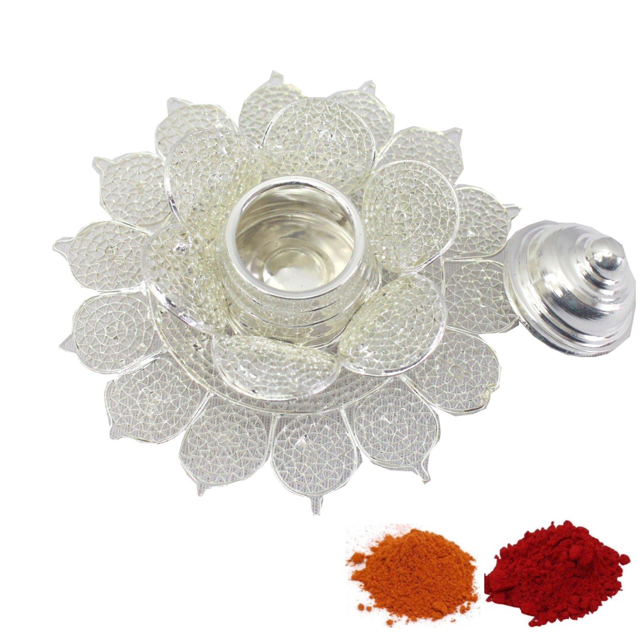 Indian Traditional Decorative Pooja thali Beautiful Lakshmi Festival Ethnic Gift for her/Kankavati / Diwali/Indian Handicraft/Home / Temple/Office / Wedding Gift/Bulk Gift. GS29