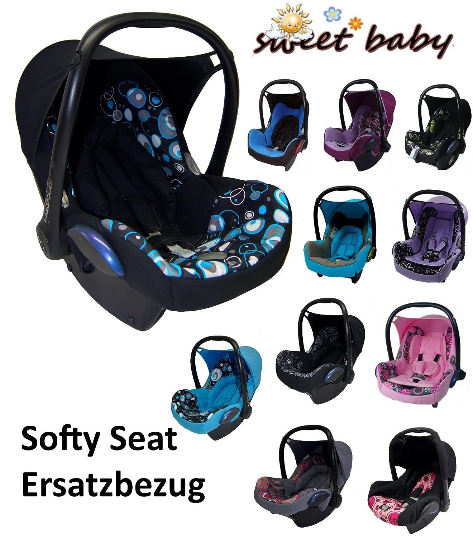 Sweet Baby ** SOFTY PROTECT CITI ** Kuschelig weicher und dick gepolsterter ERSATZBEZUG fü r Maxi Cosi CITI (Schwarz/Tü rkis/Kreise)