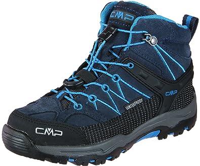 CMP Rigel Mid WP, Chaussures de Randonnée Hautes Mixte Adulte, Gris (Antracite-Red Fluo 95bd), 41 EU