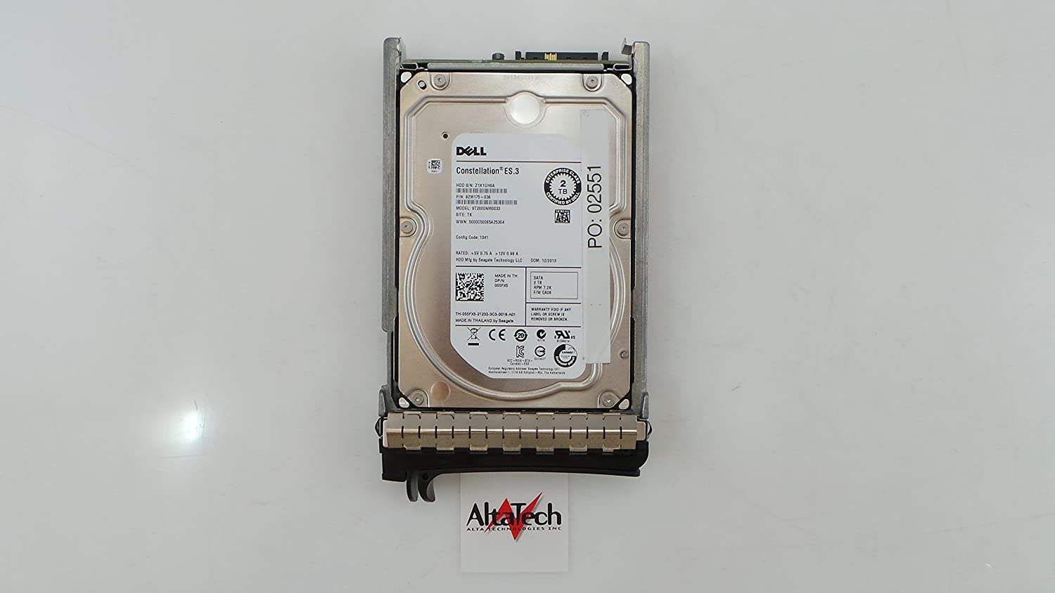 DELL 55FX5 2TB 7.2K SATA 3.5 6GB/S HDD