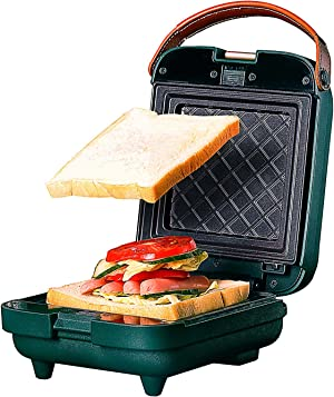 Breakfast Electric Sandwich Maker Toasting Grilling Panini Press Grill Gourmet with Detachable Non-Stick Plates double-side heating Toaster