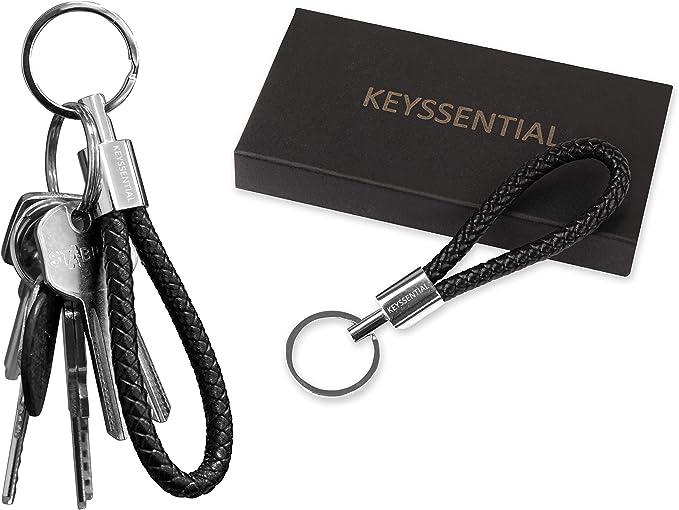 Geflochtene Kunstleder Armband Schlüsselanhänger Schlüsselanhänger Aut.xm