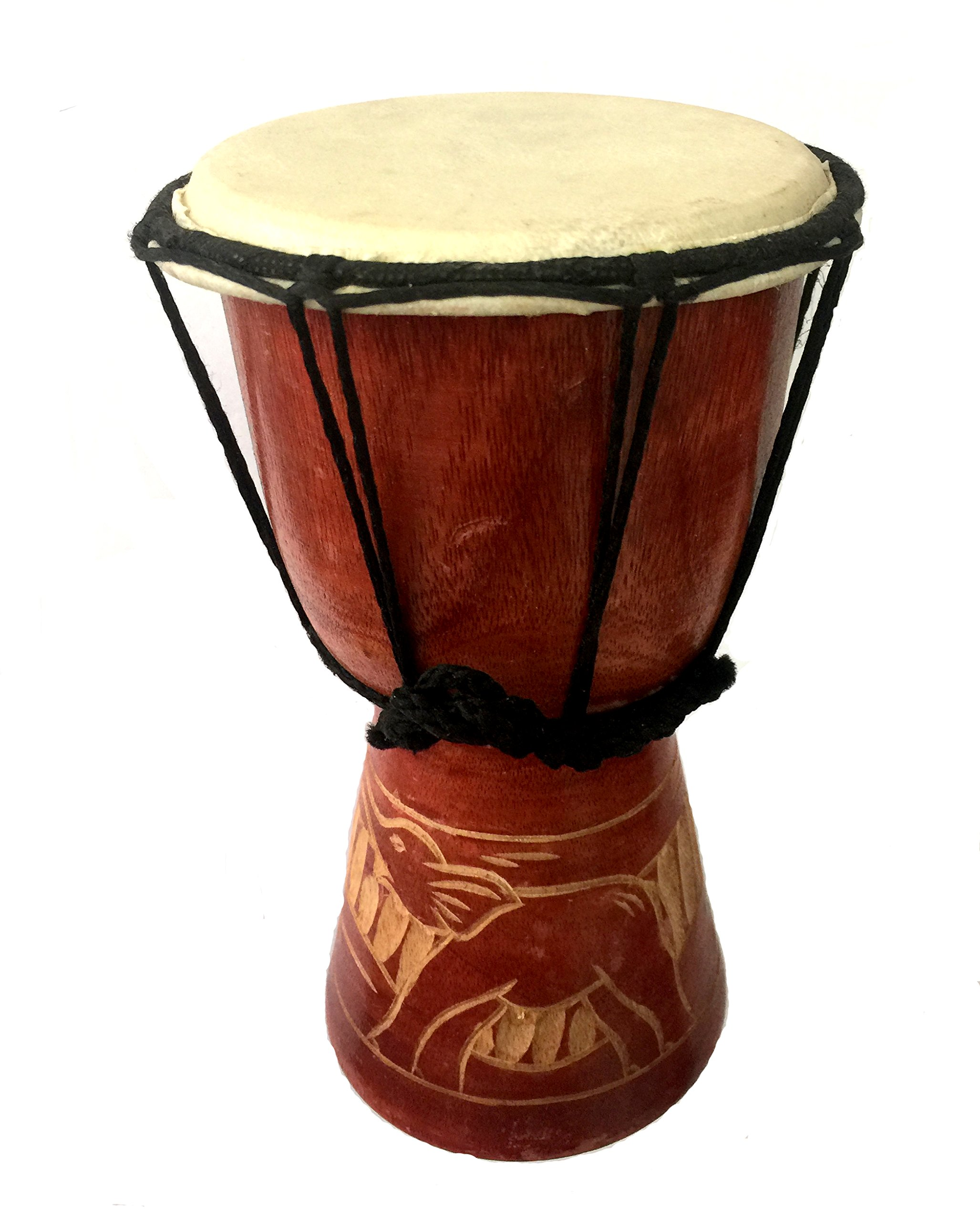 HAND CARVED DJEMBE DRUM 9''
