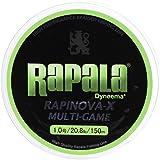 Rapala(ラパラ) PEライン ラピノヴァX マルチゲーム 150m 1.0号 20.8lb ライムグリーン RLX150M10LG