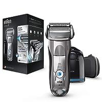 Braun Series 7 7898 cc - Afeitadora eléctrica para hombre de lámina, en húmedo y seco, máquina de afeitar barba con estación de limpieza Clean&Charge, plata