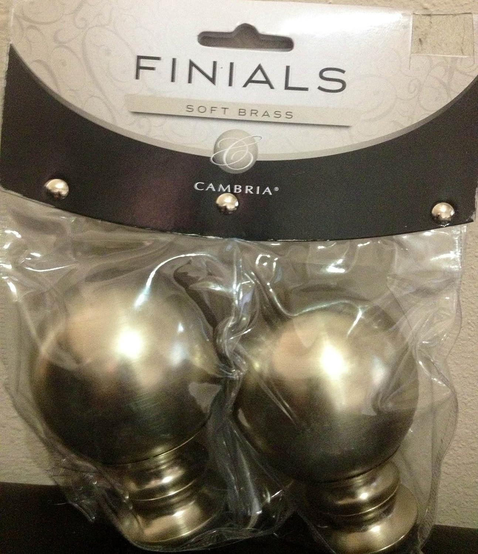 Cambria Soft Brass Finials