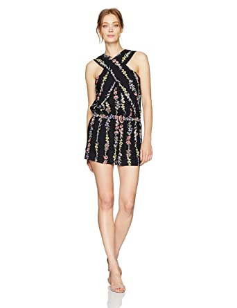 47dbcfe15a0 Amazon.com  BCBGMAXAZRIA Women s Isla Romper  Clothing