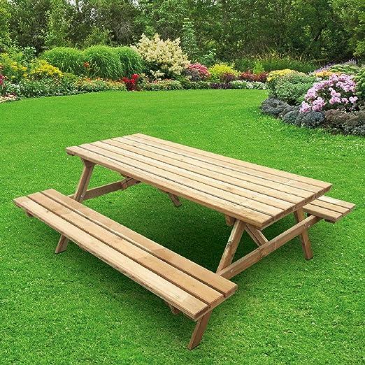 Pic NIC madera pino macizo 180 x 167 suelo box decoración jardín exterior casa: Amazon.es: Hogar