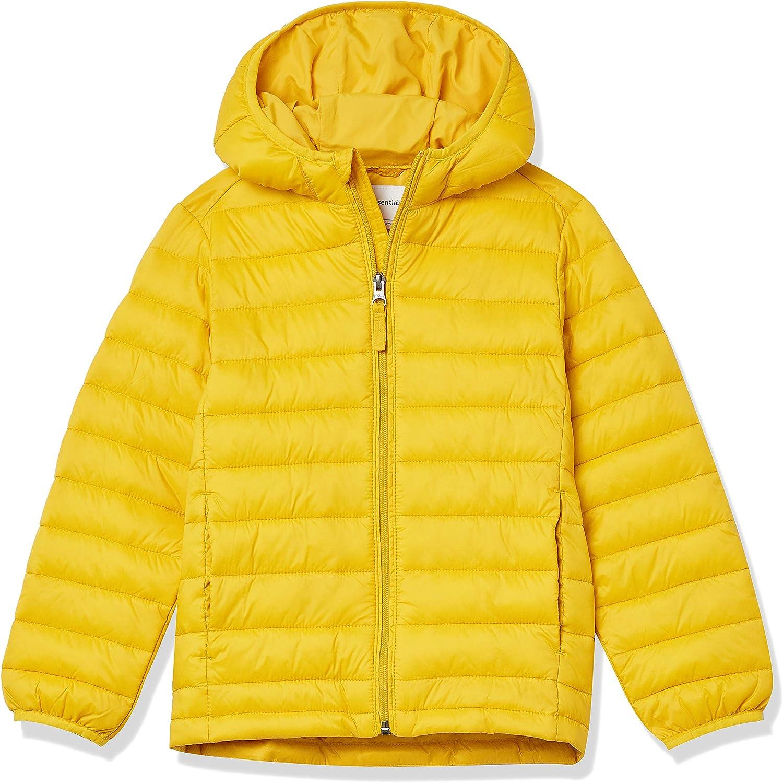 Essentials Boys Light-Weight Water-Resistant Packable Puffer Jacket