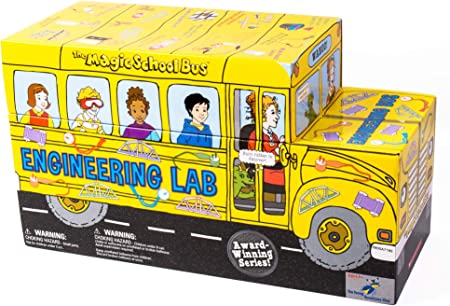 The Magic School Bus: Engineering Lab By Horizon Group USA, Homeschool STEM Kits for Kids, Includes Hands-On Educational Manual, Experiment Cards, Buzzer, Flashlight, Solar Panel, Buzzer, Wires & More