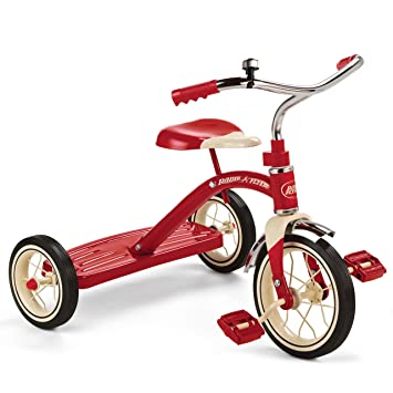 Amazon.com: Radio Flyer Classic Red Tricycle, 10-Inch: Toys & Games