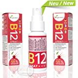 Vitamina B12 Spray | 25 ml | alternativa perfecta a las pastillas | Meticobalamina | sabor cereza | 100% vegano |mayor biodisponibilidad | fácil de llevar - vitamin to go|certificado de análisis a su disposición | vegano vegavero