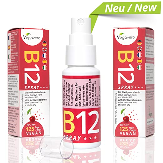 7 opinioni per Vitamina B12 Spray Vegavero | Pratico Integratore di Vitamina B12 in Spray gusto