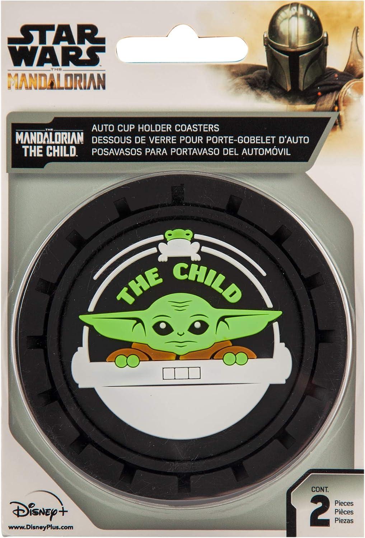 Plasticolor 001970R01 Star Wars Mandalorian Baby Yoda The Child Auto Coasters Set of 2