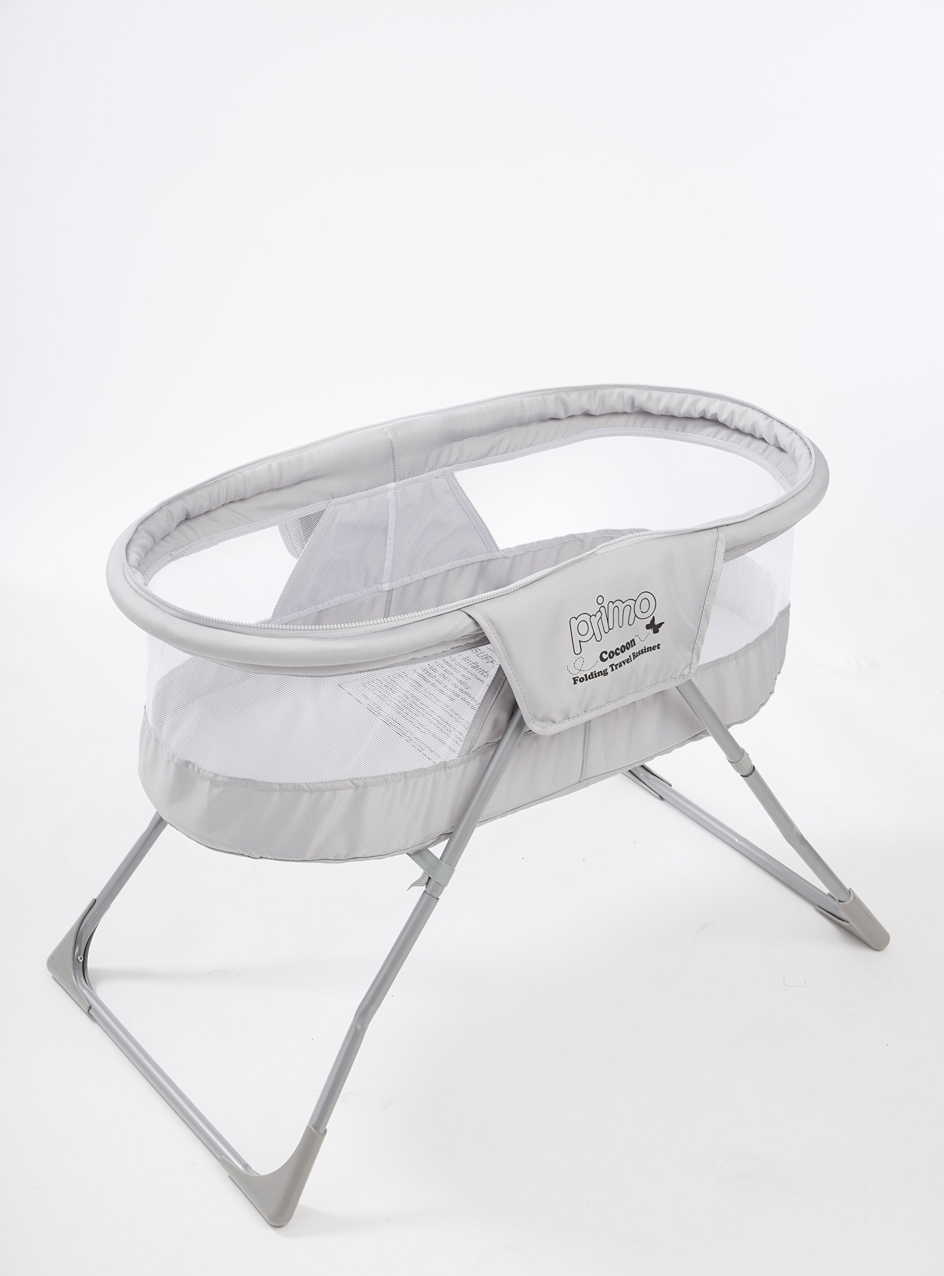 Primo Cocoon Folding Indoor & Outdoor Travel Bassinet with Bag, Grey
