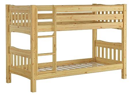 Erst-Holz Letto a castello Pino naturale letto in legno 90 X 200 ...