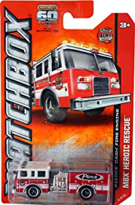 2013 Matchbox MBX Heroic Rescue Pierce Dash Fire Engine Red 100 YEARS