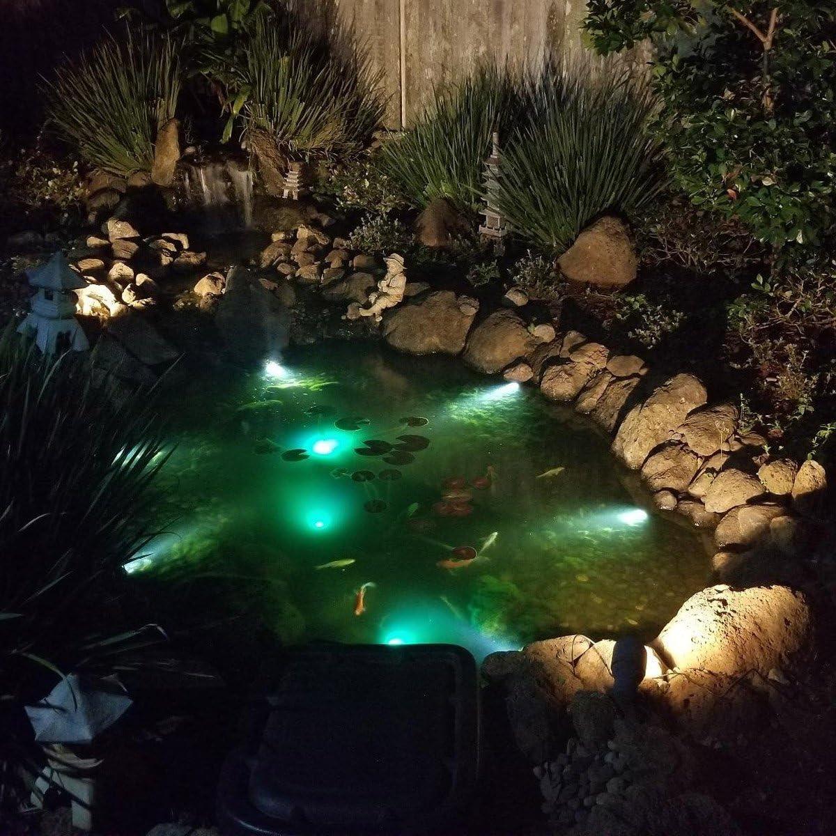 patio c/ésped /árbol para jard/ín luz de paisaje subacu/ática cambio de color + permanente Luz solar para estanque al aire libre 5 en 1 RGB LED