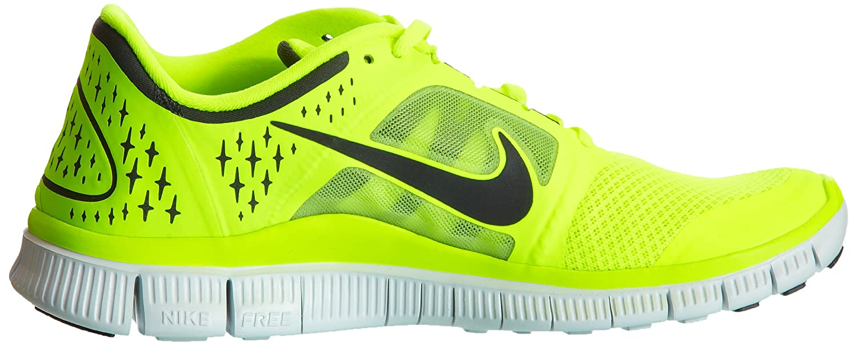 d90cfe9f2570 Nike Free Run 3 Volt Black Barefoot Lightweight Mens Running Shoes 510642- 702  US size 12.5