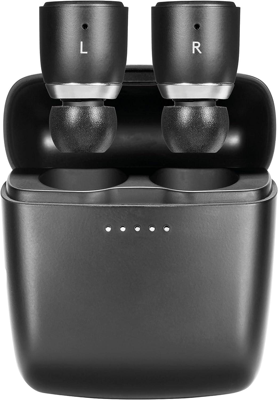 Cambridge Audio Auriculares Inalambricos Melomania 1 – Batería de Ultra Larga Duración y con Estuche de Carga - 45 Horas - Auriculares Bluetooth 5.0 – Auriculares In Ear Impermeables – Negro