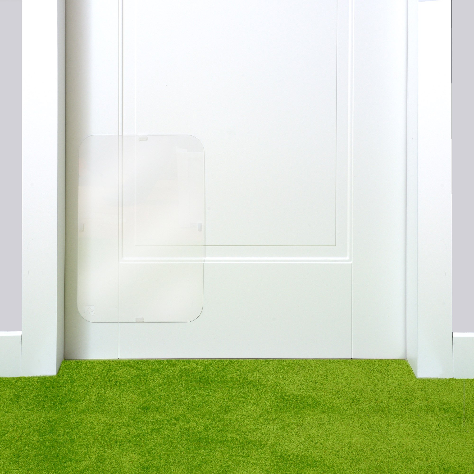 PETFECT Door Scratch Protector Premium Cat Door Cover for Interior & Exterior Use - Clear (20 x 12)