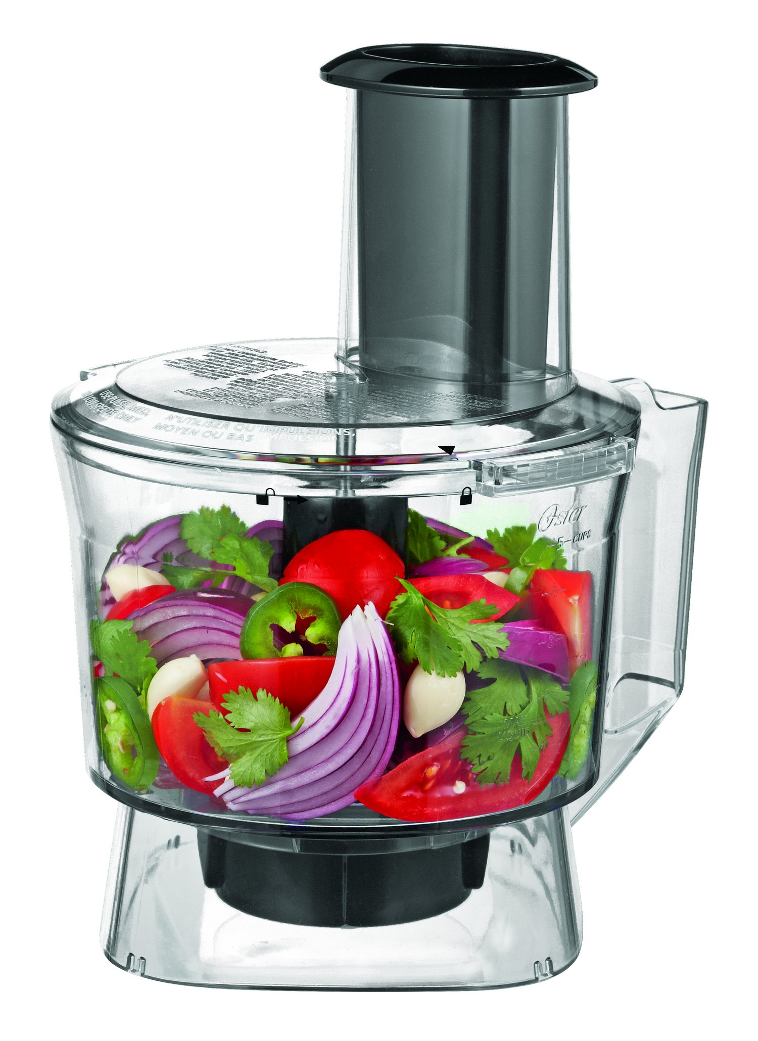 Oster Pro 1200 Blender with Glass Jar plus Smoothie Cup & Food Processor Attachment, Brushed Nickel by Oster (Image #8)