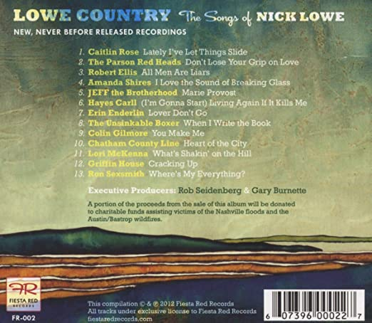 Lowe Country The Songs of Nick Lowe
