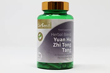 Yuan Hu Zhi Tong Tang by Ginsen (150 Capsules) Chronic or Neuropathic Pain Management