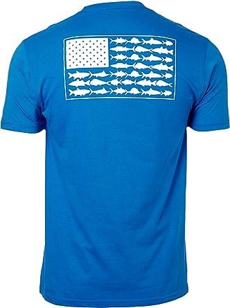 Columbia PFG Americana - Camiseta de la Bandera de los Peces de Agua Salada: Amazon.es: Ropa y accesorios