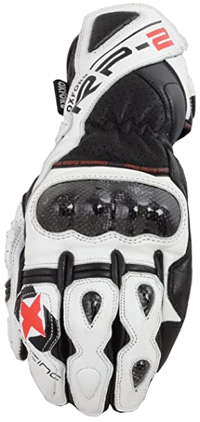 GM216M Oxford RP-2 Leather Motorcycle Gloves M White Black