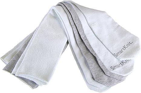 SmartKnit Kids Seamless AFO Interface Socks Gray, Child Regular