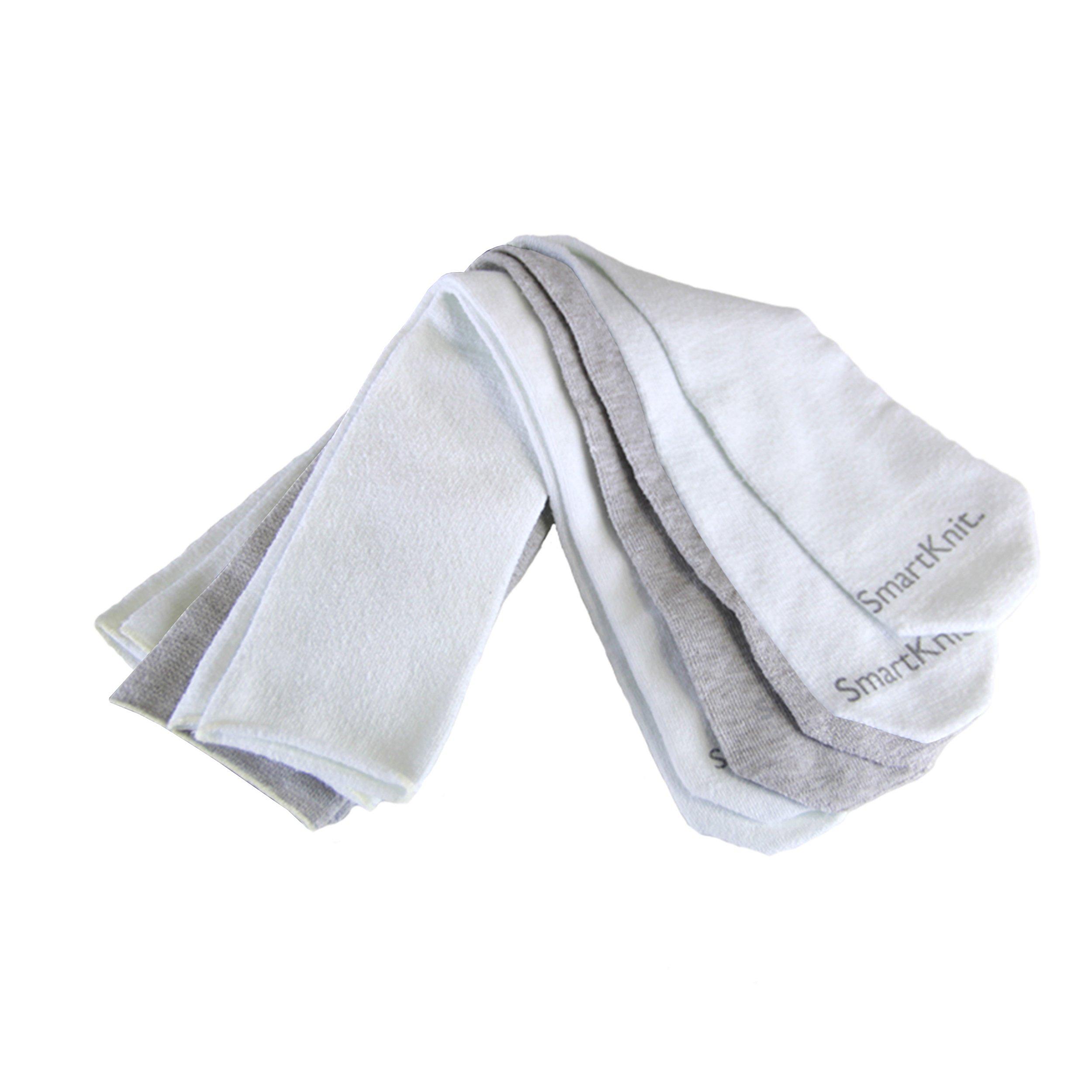 SmartKnit Seamless AFO Interface Socks 3 Pack - Adult Regular - White White & Gray by SmartKnit
