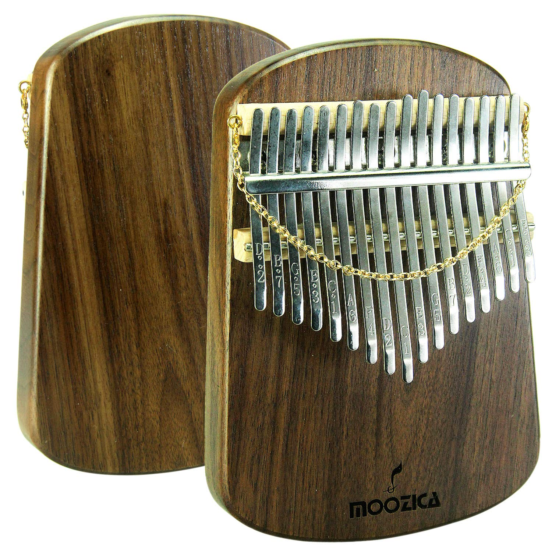 Moozica Kalimba 17 Keys Solid Walnut Wood Kalimba, Solid Walnut Wood Single Board Thumb Piano Marimba with Learning Instruction(K17S-W) by Moozica (Image #2)
