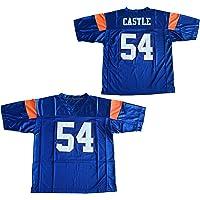 7268830f5e8 Amazon.com  Blue Mountain State 54 Thad Castle Football Jersey Blue   Clothing