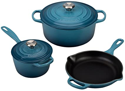 ebf9d58f6b2 Image Unavailable. Image not available for. Color  Le Creuset 5 Piece  Signature Enameled Cast Iron Cookware ...