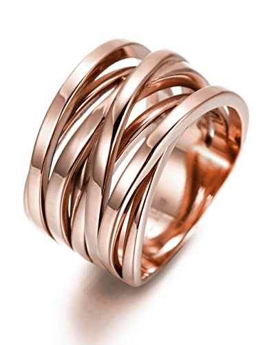 Amazoncom 137MM Stainless Steel Cross Ring Women Girls Statement