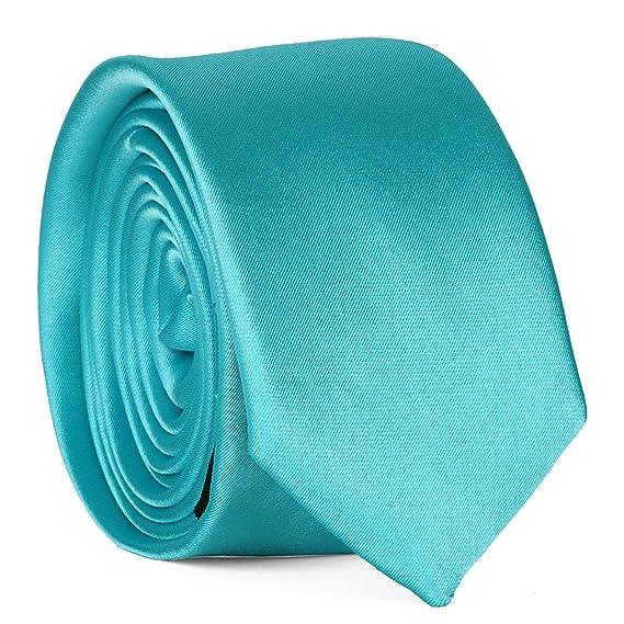 grandes variétés qualité de la marque dernier Cravate Slim Bleu turquoise Premium - Cravate Mariage ...