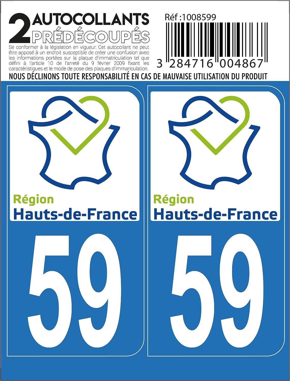 DPT 59 Region Hauts de France Cadox Autocollant
