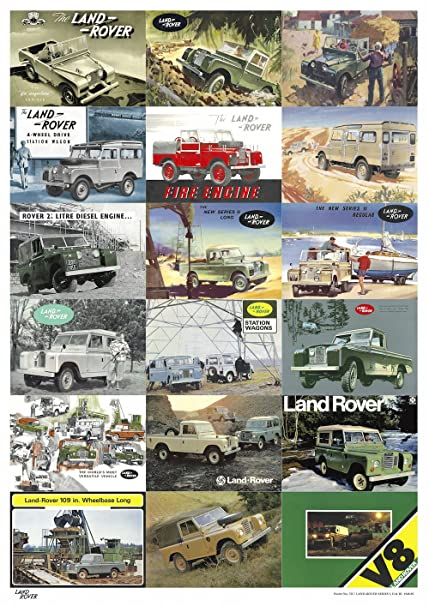LAND ROVER SERIES-III ENGINE RANGE RETRO POSTER BROCHURE CLASSIC ADVERT A3