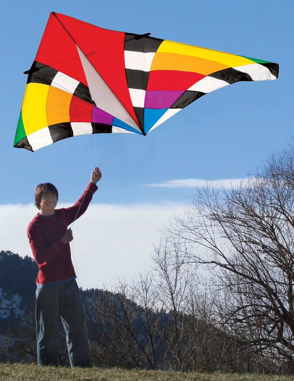 Into The Wind 9-ft. Levitation Rainbow Single Line Delta Kite by Into The Wind