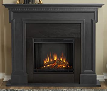 Delicieux Real Flame 5010E GRY 5010E Thayer Electric Fireplace, Gray