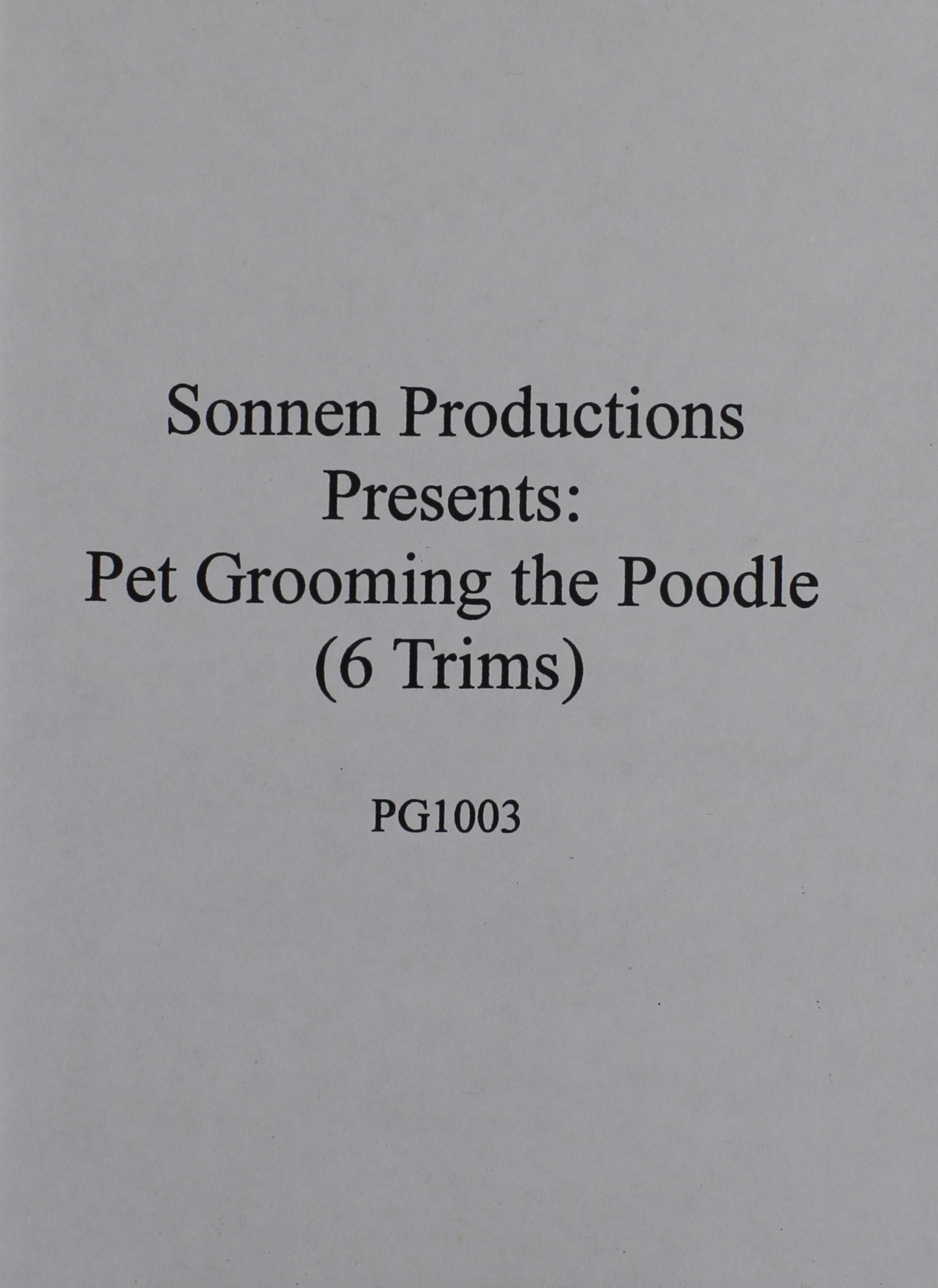 Sonnen Productions Pet Grooming DVD, Poodles