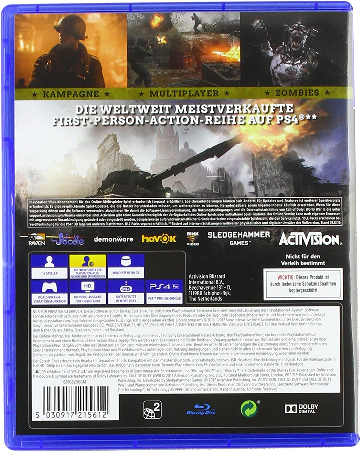 Call of Duty: WWII - Standard Edition - PlayStation 4 [Importación ...