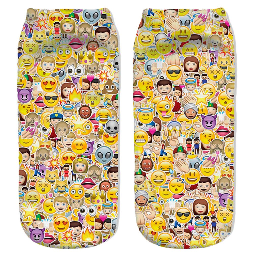 Calzini Emoji Collage Dorato Socializzed